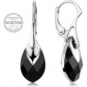 Levien Glittering Cercei cu cristale Metcap Black Pear