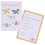 Dille&Kamille Cartes d'invitation, papillons, 10 pcs