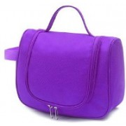 Online World Waterproof Travel Bag Beauty Make Up Toiletry Wash Bag Zipper Cosmetic Case Organiser Party, Picnic Easy Carrying ( color may vary )(Purple)
