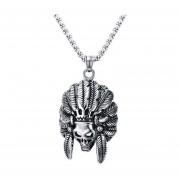 Collares Colgantes De Moda Venico De Indios Cráneo Joyerìa De Hombres - Plata