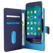 Bolsa Tipo Carteira para Smartphone Universal de Deslize da Puro - XL - Azul