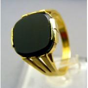 Zlatý pánsky prsteň pečatný s kameňom onyx VP60582