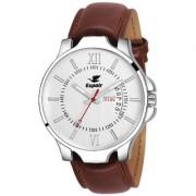 Espoir Round Dail Brown Leather StrapMens Quartz Watch For Men