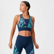 Myprotein Tropical Crop Top - XS - Tropical/Navy
