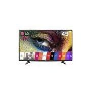 Smart TV LED 49 Ultra HD 4K LG 49UH6100 com Sistema WebOS, Wi-Fi, Painel IPS, HDR Pro, Upscaler, Entradas HDMI e Entrada USB