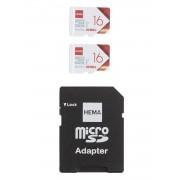 HEMA 2-pak Micro SD Kaarten 16GB