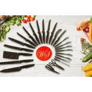 24pc Marble-Effect Culinary Set