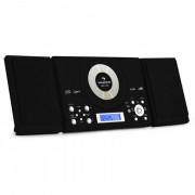 Auna MC-120 Microanlage Vertikalanlage MP3-CD-Player USB AUX Wandmontage schwarz