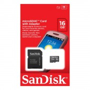 SanDisk minneskort, microSDHC Class 4, 16GB