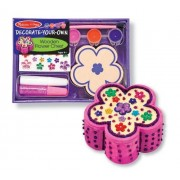 Wooden Flower Chest Decorate-Your-Own Kit + FREE Melissa & Doug Scratch Art Mini-Pad Bundle [33336]