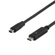 Deltaco USB-C till miniUSB-kabel ( 0.25 meter )
