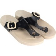Majesty Black Solid PVC Synthetic Women & Girls Flip Flops Slipper Slippers