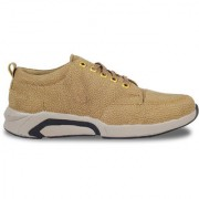 Rebelbe Men's Beige Synthetic Lace up Casual shoes