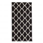 Dekoria Dywan Cottage black/ wool 67x130cm, 67 × 130 cm