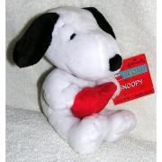 Hallmark 8 Plush Snoopy Bean Bag Doll Holding Red Heart