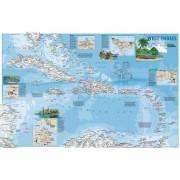 Harta regionala Antilele - faţă - verso National Geographic