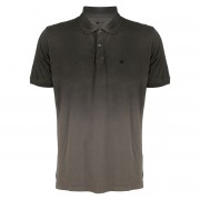 Camisa Polo Seeder com Spray Preto