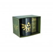Taza De Zelda Logo Mug Cerámica Oficial Nintendo Link Negra