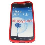 Силиконов гръб ТПУ за Samsung i9190 Galaxy S4 mini Червен