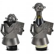 Поставка за вино [en.casa]®, Учител, 15,6 x 13,7 x 21,5 cm