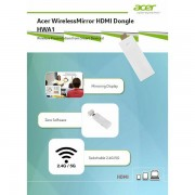 Acer WirelessMirror HDMI Dongle HWA1, MC.JQC11.008 MC.JQC11.008