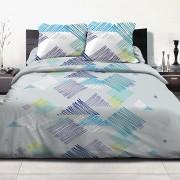 Parure housse de couette 220x240 cm 100% coton Desilia blue