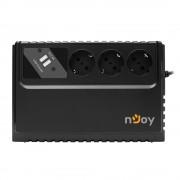 UPS NJOY Renton 650 USB UPLI-LI065RE-CG01B, 650 VA, 360 W