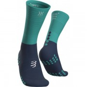 Compressport Mid Compression Socks - Unisex - Blauw - Grootte: 42-44