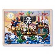 Melissa Doug puzzle lemn Aventura Piratilor
