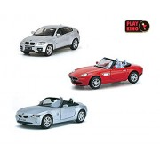 Playking Kinsmart Combo of 5'' Die Cast Metal * Doors Openable * Pull Back Action BMW Z8, BMW Z4 & BMW X6, Color May Vary