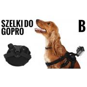 Szelki dla psa, mocowanie do GoPro + szybkozłączki (GP186)