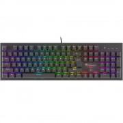 Tastatura gaming mecanica, NATEC Genesis Thor 300 RGB, Outemu Brown Switch
