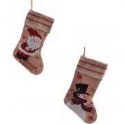Bellatio Decorations 2x stuks setje kerstsokken van 45 cm