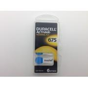 Duracell 675, PR44, 1.45V baterii auditive blister 6 pentru aparate auditive