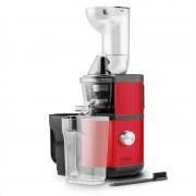 Klarstein Fruitberry Slow Juicer 400W 60U/min tubo de abastecimento de Ø8,5 cm em aço inoxidável vermelho