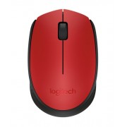 Mouse, LOGITECH M171, Wireless, Red (910-004641)