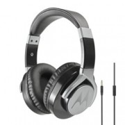 Слушалки Motorola Pulse Max Wired, микрофон, 40мм говорители, дълбок бас, сваляем 1.2м кабел, черни
