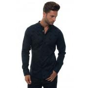 Giorgio Armani Camicia cotone manica lunga Blu scuro Cotone Uomo