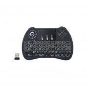 H9 Mini Ratón Inalámbrico De Mano Teclado Teclado QWERTY Combinado Con Retroiluminación (negro)