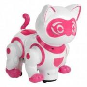 Pisica robot inteligent roz sunet si lumina