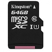 Kingston Digital 64GB microSDXC Class 10 UHS-I 45R Flash Card (SDC10G2/64GBSP)