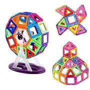 Efanr Magnetic Building Blocks 95pcs/Magnetic 3D Education Brick with Storage Box Creative DIY Toy Gift for Kids Stimulate Creativity & Brain Development