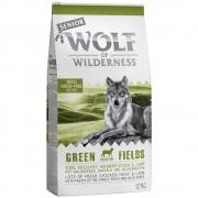 2x12kg Wolf of Wilderness Senior 'Green Fields' - bárány száraz kutyatáp