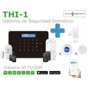 Pack SEGURIDAD TOTAL de Alarma SIN cuotas Domótica THI-1 (WiFi + GSM)