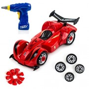 Toysery Take-A-Part Racing Car Toyset For Kids   Above 10 Pieces Take Apart Electric Play Drill and Modification Pieces   Race Car Develop Fine Motor Skills And Hand-Eye Coordination .