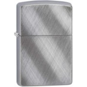 Zippo Classic Diagonal Weave Brushed Chrome Locking Carabiner(Silver)