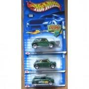 Hot Wheels 2002 Mini Cooper 200 Wheel & Tampo Variations Green