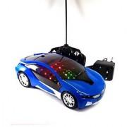 Remote Control rechargeable Famous car 3D Led light- Blue