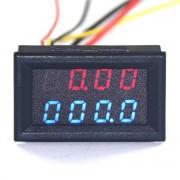 4V1 Voltmeter ,Ampermeter,Wattmeter,Teplomer 0-30V 3A