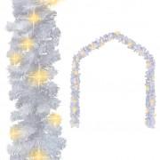 vidaXL Коледен гирлянд с LED лампички, 5 м, бял